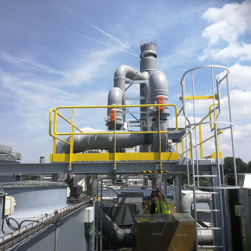 Teblick Exhaust system pharmaceutical plant